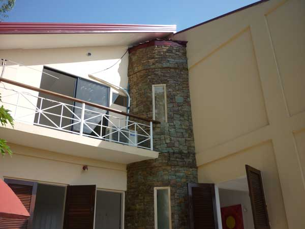 view to master bedroom balcony in upper floor