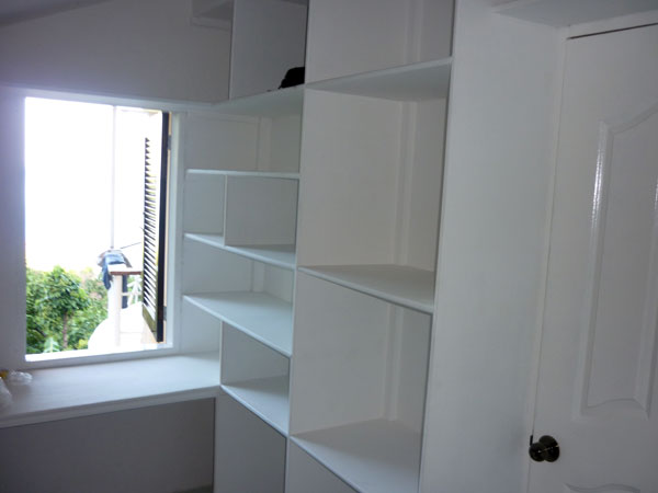 shelves in walk in closet