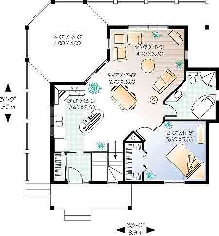 floor plan of master suite