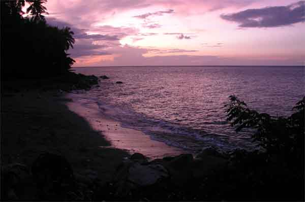 sunset at Tuko Beach Resort